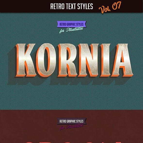 10 Retro Text Styles vol. 07