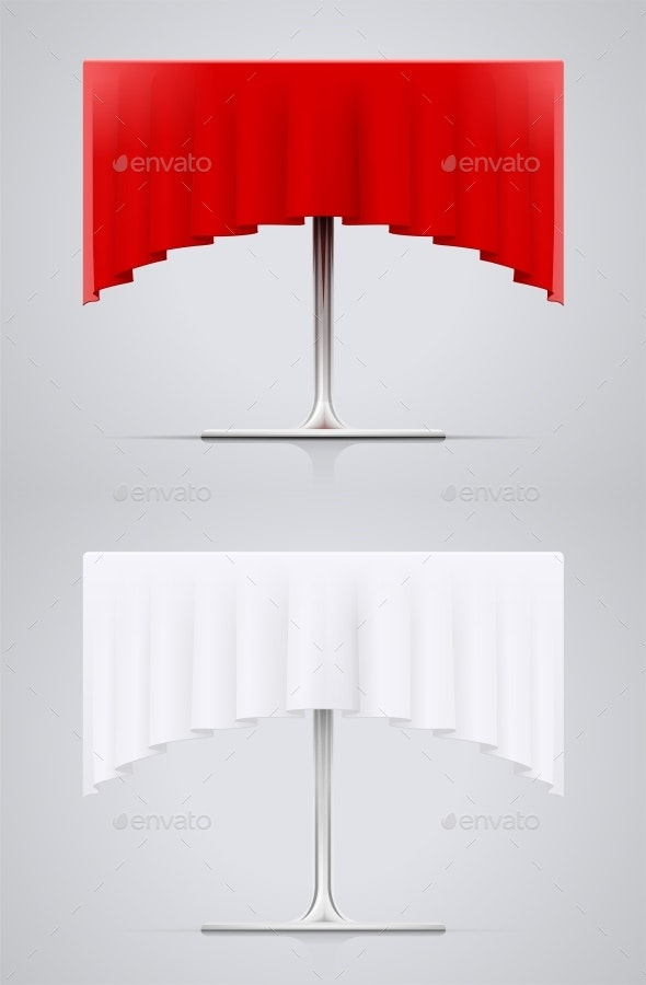 Metal Table Covered Table-Cloth - Man-made Objects Objects