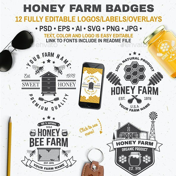 Honey Farm Badges