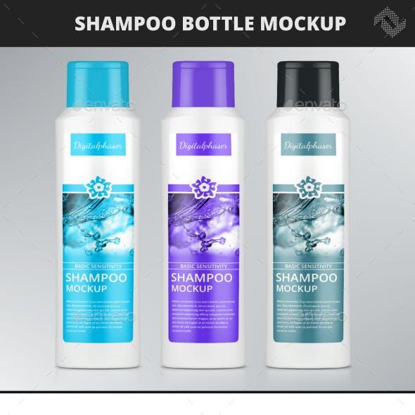 Shampoo Shower Gel Bottle Mockup