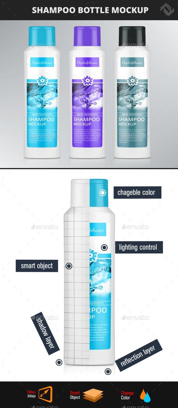 Shampoo Shower Gel Bottle Mockup - Packaging Product Mock-Ups