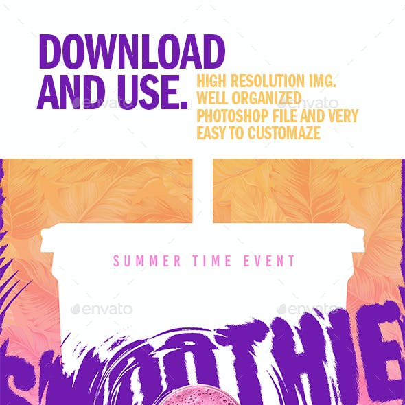 Smoothie Party Print Template