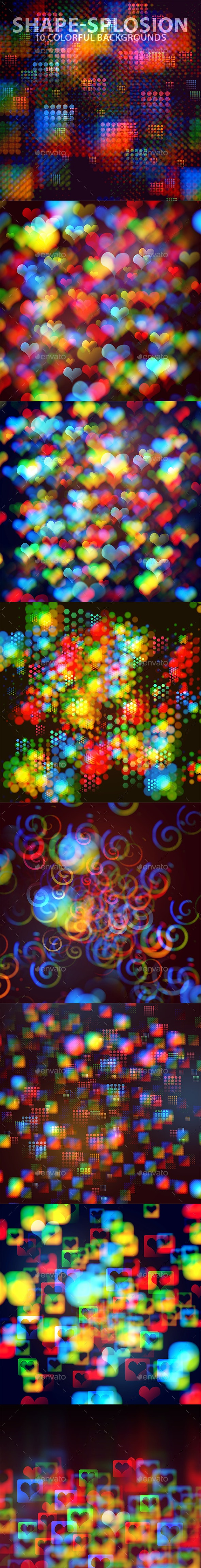 ShapeSplosion Colorful Background Set - Miscellaneous Backgrounds