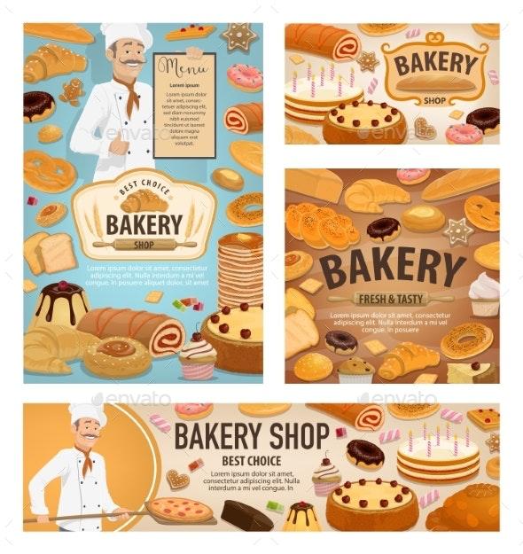 Baker Baking Bread - Food Objects