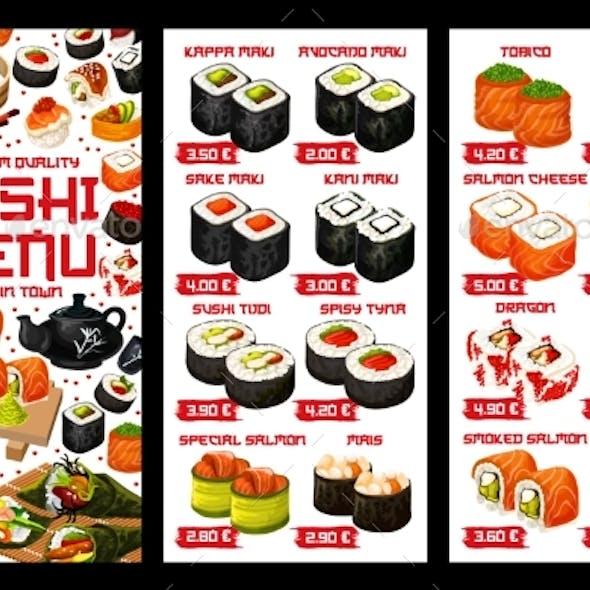 Asian Sushi Food