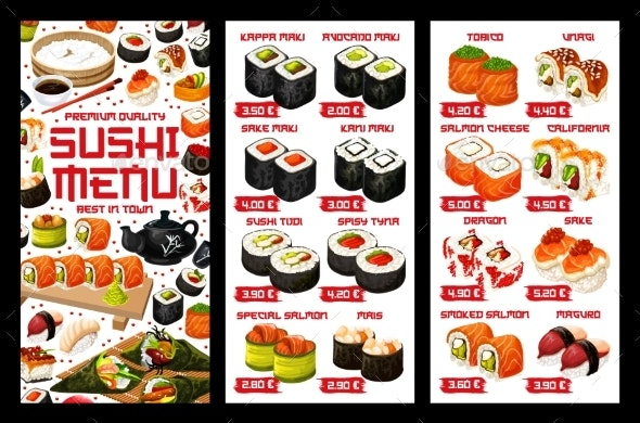 Asian Sushi Food - Food Objects