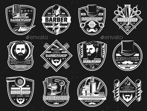 Barbershop Premium Beard and Mustache Shaving - Health/Medicine Conceptual