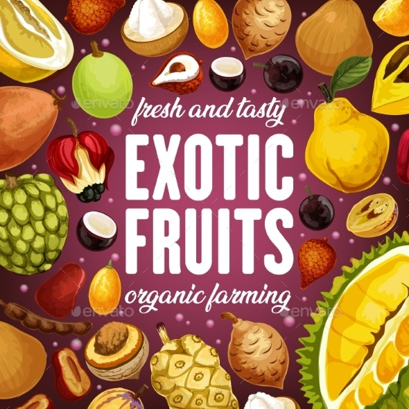 Exotic Fruits - Health/Medicine Conceptual