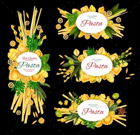 Italian Pasta Premium Restaurant Menu - Food Objects