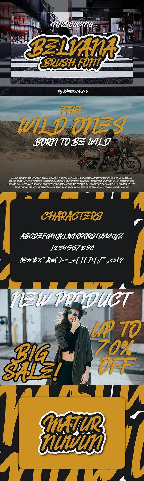 Belvana Brush Font - Handwriting Fonts