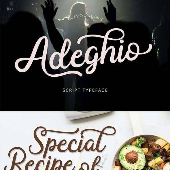 Adeghio Script Style
