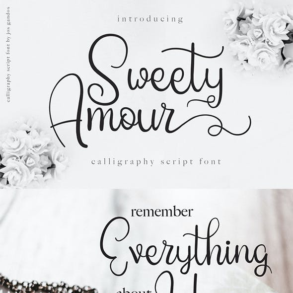 Sweety Amour - Sweet Typeface