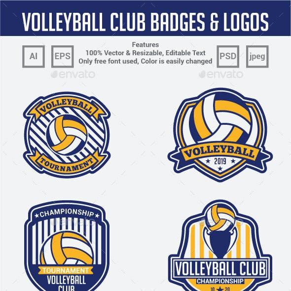 Volleyball Club Badges & Logos