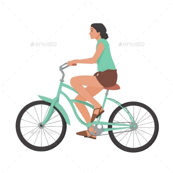 Girl Riding Bicycle - Sports/Activity Conceptual