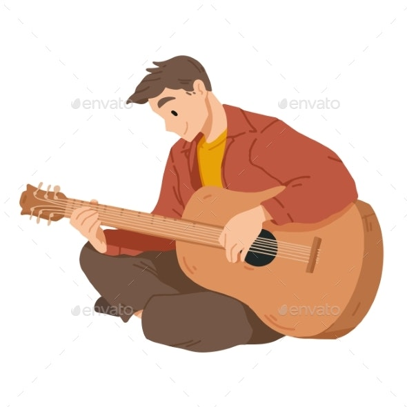 Man Playing Guitar - People Characters