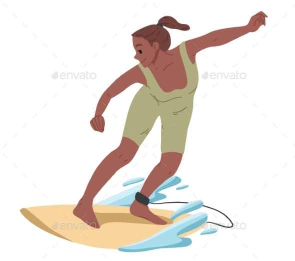 Girl Surfing - Sports/Activity Conceptual