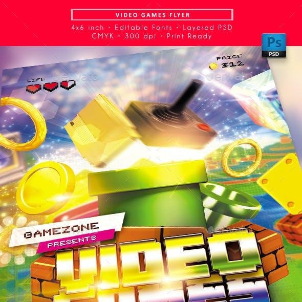 Video Games Flyer