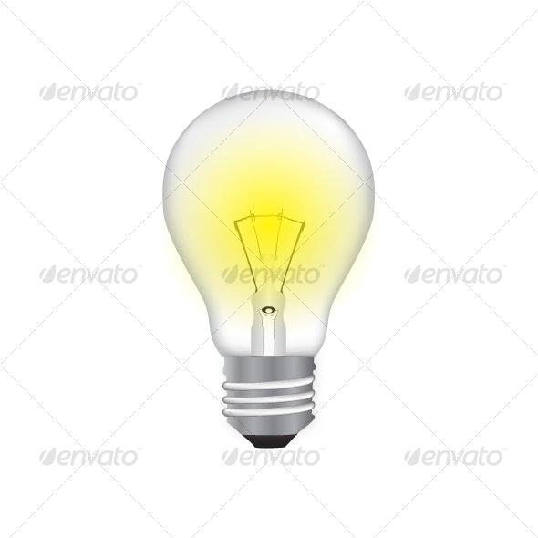 Light bulb - Objects Vectors