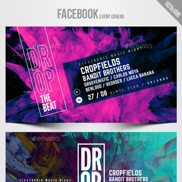 Electronic Music Party 11 - Facebook Event Cover Templates