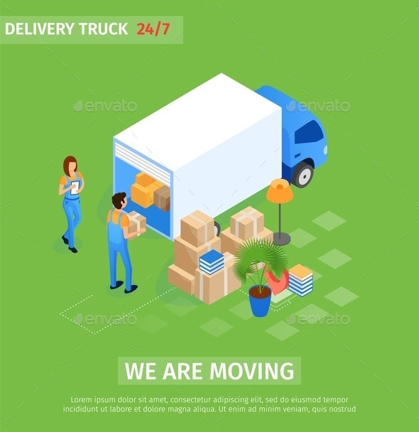 Flat Delivery Truck - Industries Business