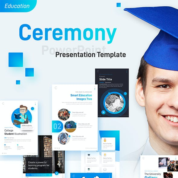 Ceremony Portrait Education PowerPoint Template