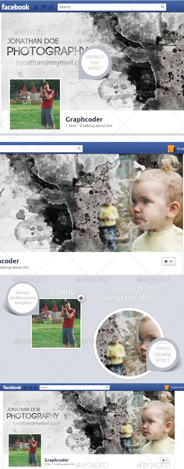 Facebook Timeline Cover (Photo Grunge Effect)  - Facebook Timeline Covers Social Media
