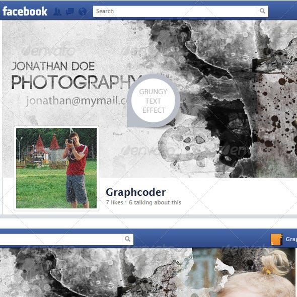 Facebook Timeline Cover (Photo Grunge Effect)