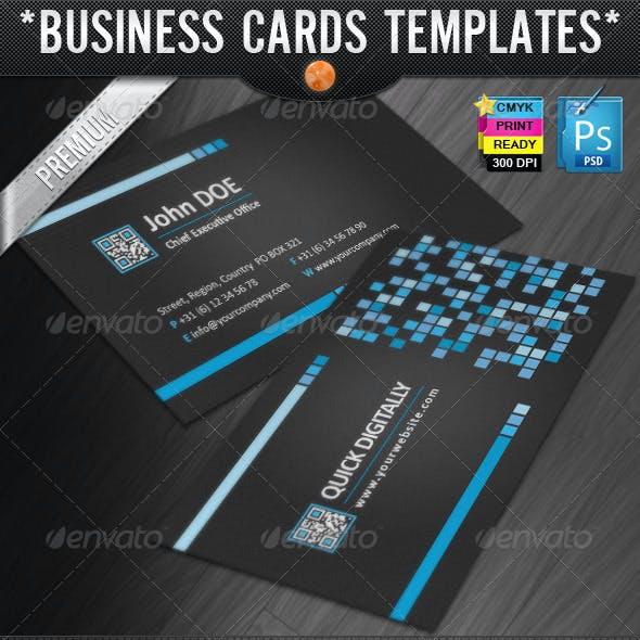 Digitally Quick Response Business Cards Designs