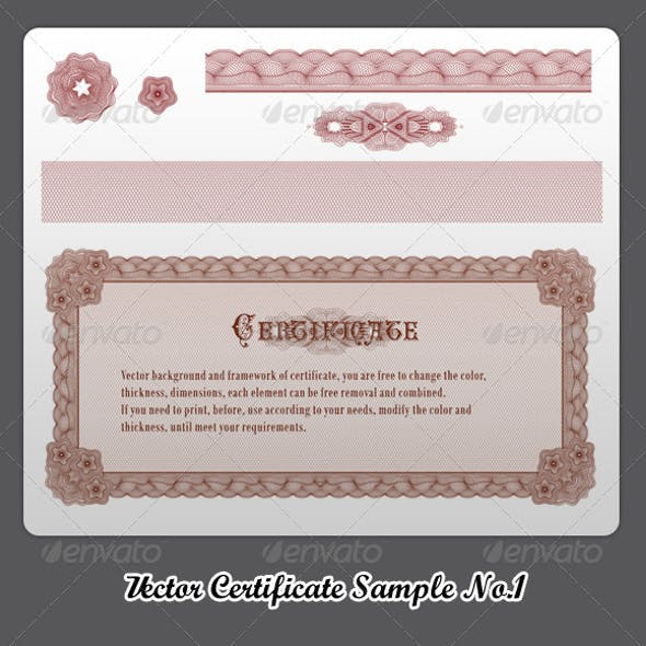Vector Certificate Sample No.1