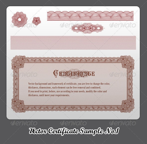 Vector Certificate Sample No.1 - Patterns Decorative