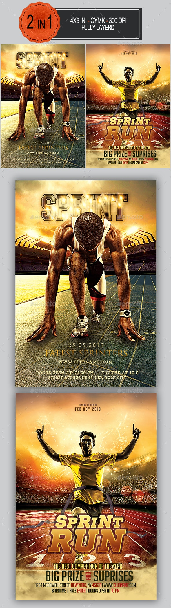 Athletic Flyer Bundle - Sports Events