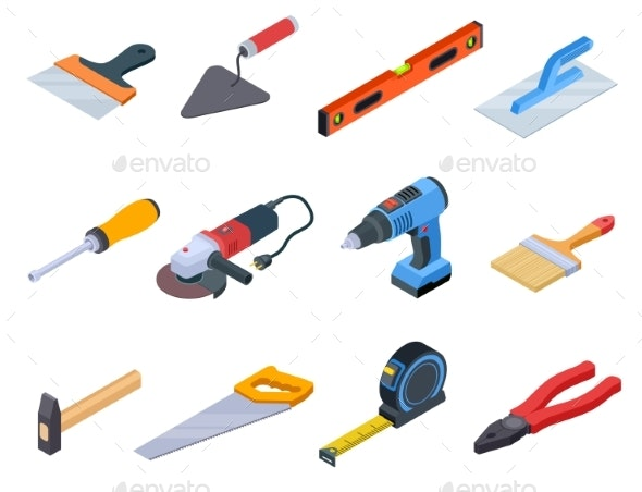 Isometric Repair Tools - Man-made Objects Objects