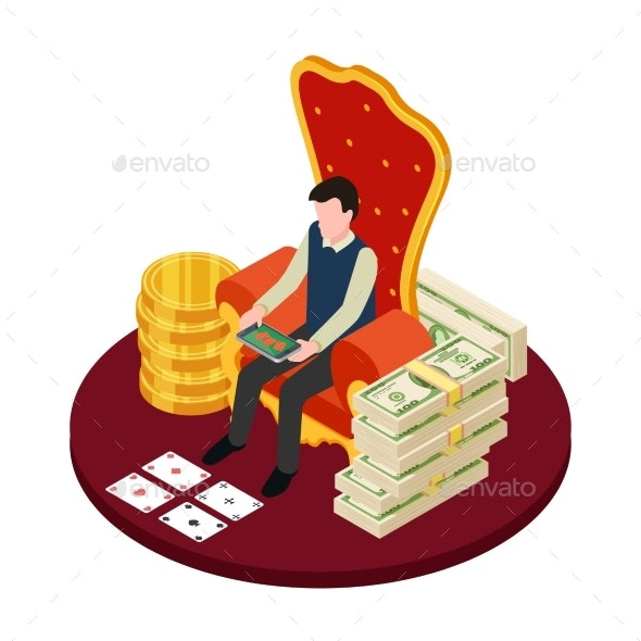 Online Casino with Banknotes - People Characters