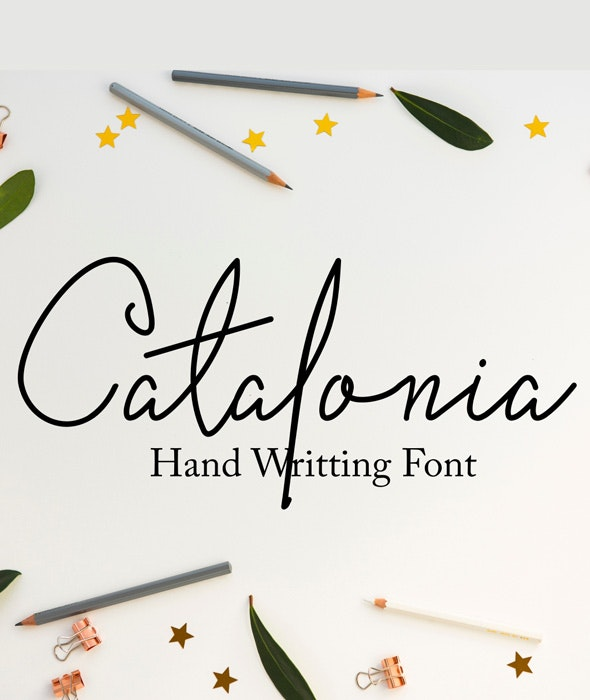 Catalonia - Hand-writing Script