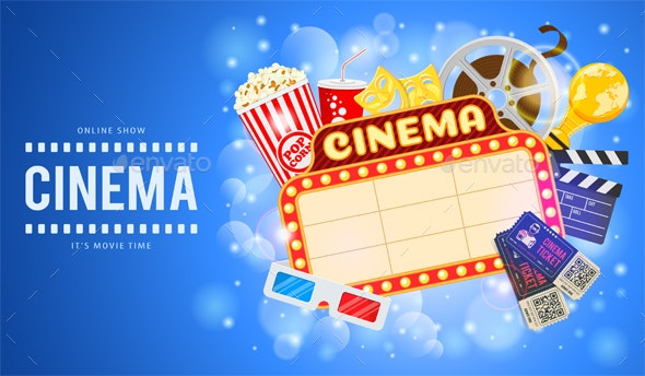 Cinema and Movie Banner - Backgrounds Decorative