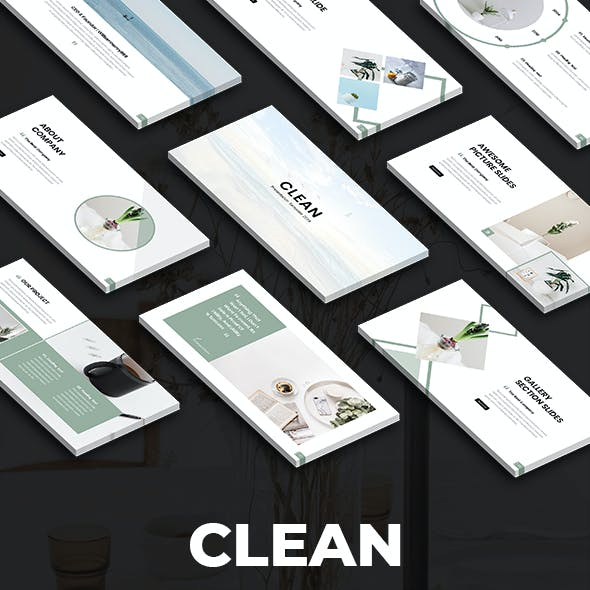 Clean - Minimal Keynote Template 2019