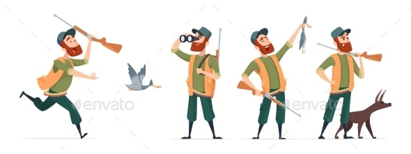 Cartoon Hunters - People Characters