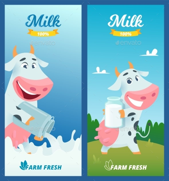 Milk Banners - Animals Characters