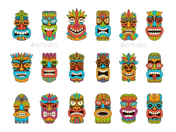 Tiki Masks - Man-made Objects Objects