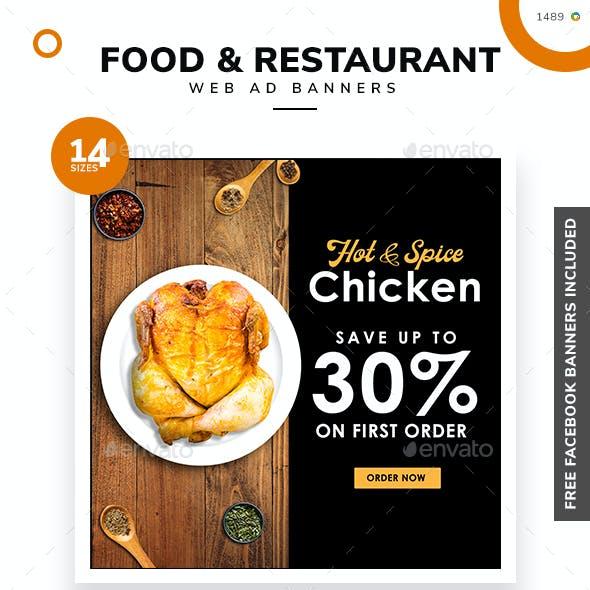 Food and Restaurant Banner Set