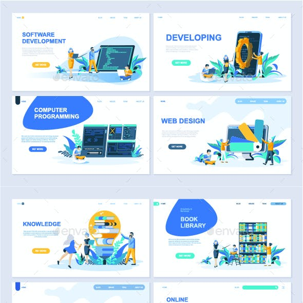 Collection of Landing Page Templates