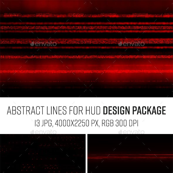 Red Lines Dark Abstract Package