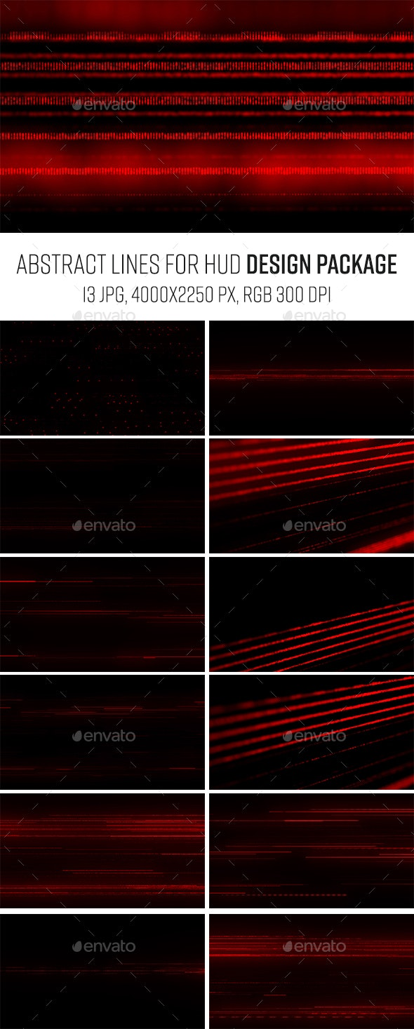 Red Lines Dark Abstract Package - Tech / Futuristic Backgrounds