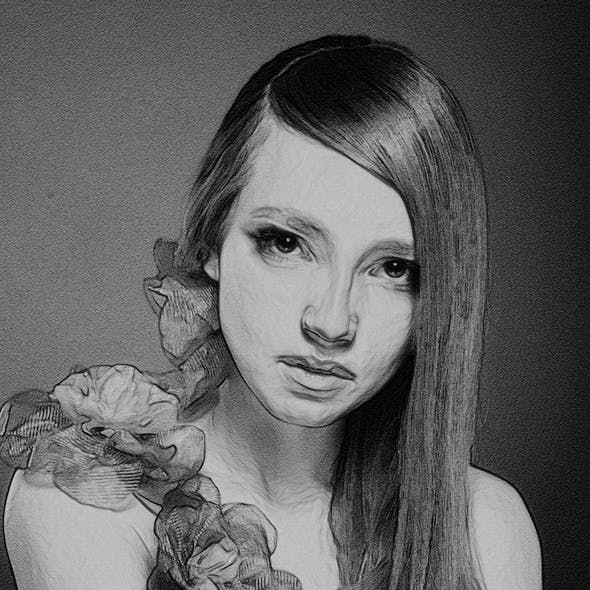 Pencil Drawing Photoshop Actions