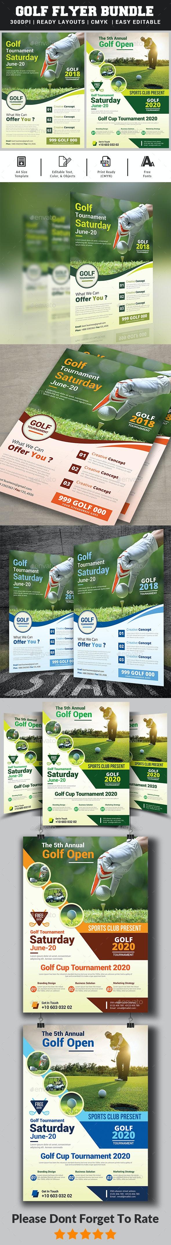 Golf Flyer Bundle - Sports Events