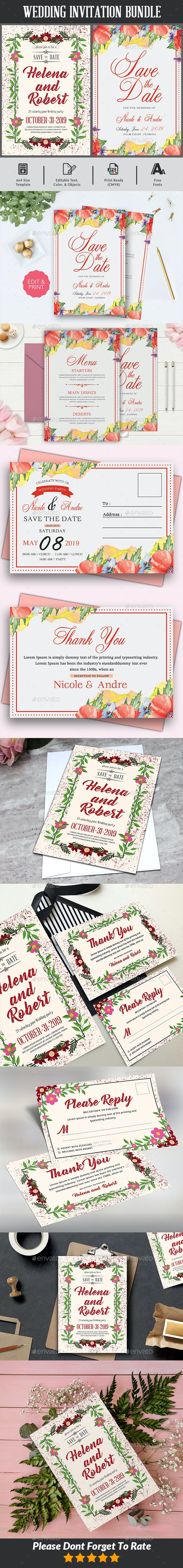 Save The Date Flyer Bundle - Weddings Cards & Invites