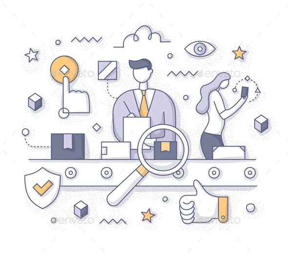 Quality Control Concept - Concepts Business