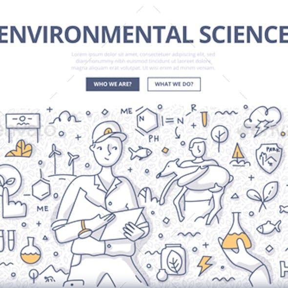 Environmental Sciece Doodle Concept