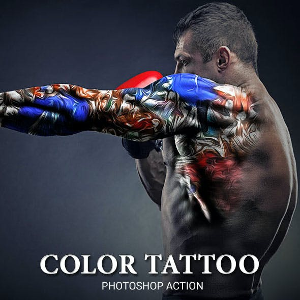 Color tattoo Photoshop Action