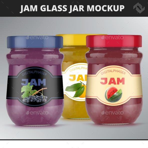 Jelly Jam Honey Jars Mockup